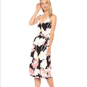 Cupcakes & Cashmere Floral Print Wrap Dress